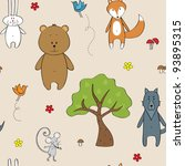 Seamless With Forest Animals