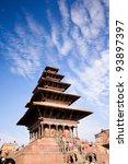 Old buddhistic pagoda, Nyatapola temple on Bhaktapur Square. Kathmandu, Nepal
