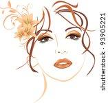 portrait of beautiful woman... | Shutterstock .eps vector #93905221