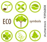 set of eco icons and symbols in ... | Shutterstock .eps vector #93906808