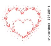 love   butterfly   valentines... | Shutterstock .eps vector #93910546