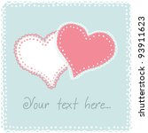 cute valentine or wedding card... | Shutterstock .eps vector #93911623