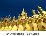 Pha That Luang, Vientiane - stock photo