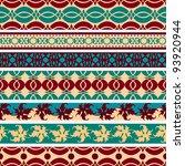 set of  vintage borders.vector... | Shutterstock .eps vector #93920944