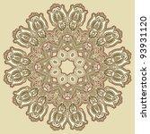 circle ornament  ornamental... | Shutterstock .eps vector #93931120