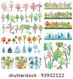 big set with different stylized ... | Shutterstock .eps vector #93932122