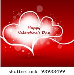 romantic illustration with... | Shutterstock .eps vector #93933499