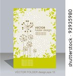 vector folder design on floral... | Shutterstock .eps vector #93935980