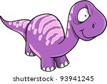 Crazy Insane Purple Dinosaur Vector illustration - stock vector