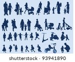 kids and family | Shutterstock .eps vector #93941890
