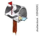Funny Colored Mailbox Cartoon...