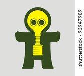 homunculus.   10  gas mask  an... | Shutterstock .eps vector #93947989