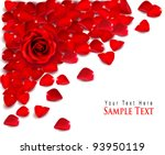 Stock vector background of red rose petals vector 93950119