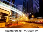 moving car with blur light...   Shutterstock . vector #93950449