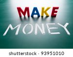 make money concept  message... | Shutterstock . vector #93951010