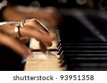hands play on the piano | Shutterstock . vector #93951358