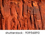 Bright Red Rock Cliff In The...