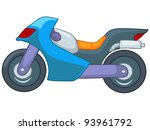 Cartoon Motorcycle Isolated on White Background. Vector EPS8.