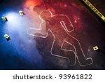 photo of a fresh crime scene | Shutterstock . vector #93961822