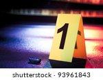 photo of a fresh crime scene | Shutterstock . vector #93961843