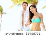 Beach Vacation Couple On Summe...