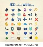 42 hand drawn vector... | Shutterstock .eps vector #93966070