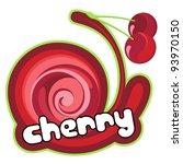 cherry label. background for... | Shutterstock .eps vector #93970150