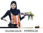 Beautiful Muslim Woman Wearing...