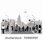 vector illustration.rush city... | Shutterstock .eps vector #93985909