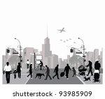 vector illustration.rush city... | Shutterstock .eps vector #93985909