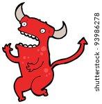 little devil cartoon  raster...   Shutterstock . vector #93986278