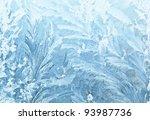 Frosty Pattern At A Winter...