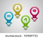 set of 3d pointers email home... | Shutterstock .eps vector #93989752