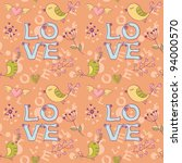 love seamless texture with... | Shutterstock .eps vector #94000570