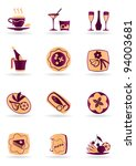 drinks  dishes  appetizers and... | Shutterstock .eps vector #94003681