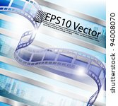 eps10 abstract vector film... | Shutterstock .eps vector #94008070