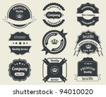 retro badges vector design 02 | Shutterstock .eps vector #94010020