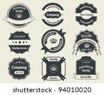 retro badges vector design 02 | Shutterstock .eps vector #94010020