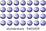 set of 20 shinny high quality... | Shutterstock .eps vector #9401059