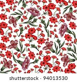 carnation classic pattern.... | Shutterstock .eps vector #94013530