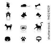 Stock vector pet icons eps vector grouped for easy editing no open shapes or paths 94019029