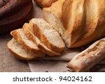 Cut Fresh Bread On The...