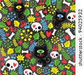 Cute Monsters Cats And Skulls...