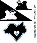 dog and cat silhouette design... | Shutterstock .eps vector #94029319