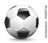 shiny soccer ball waiting to be ... | Shutterstock .eps vector #94040746