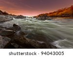 White Water River With Silky...