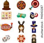 cartoon casino icon   Shutterstock .eps vector #94043287