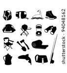 camping icons set     vector is ...   Shutterstock .eps vector #94048162
