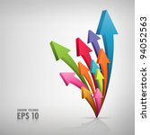 Arrow Colorful Objects  Vector...