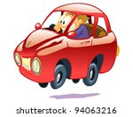 car and driver on a white... | Shutterstock .eps vector #94063216